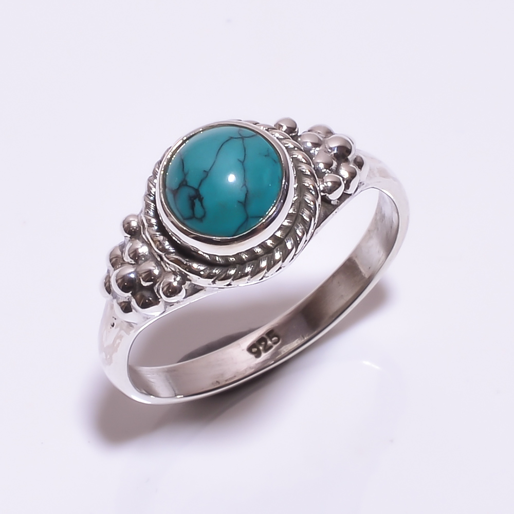 925 STERLING SILVER TURQUOISE BEAUTIFUL RING