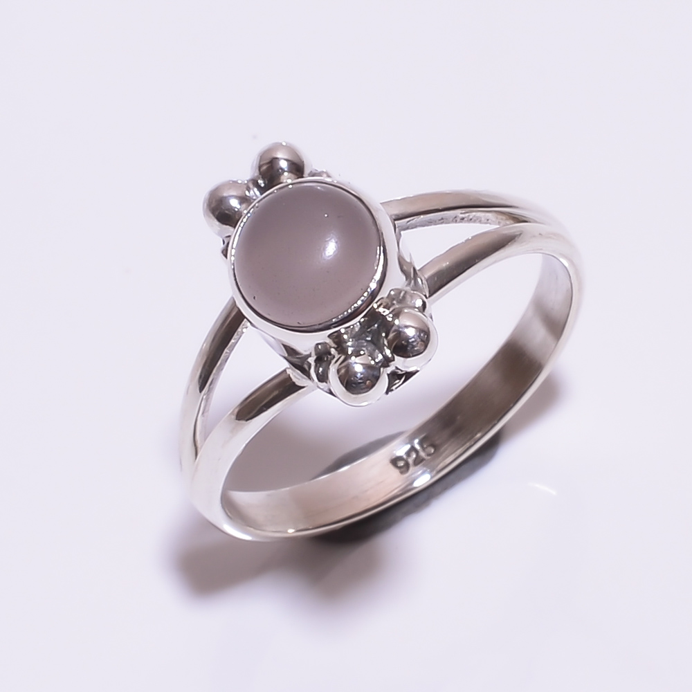 925 STERLING SILVER ROSE QUARTZ BEAUTIFUL RING