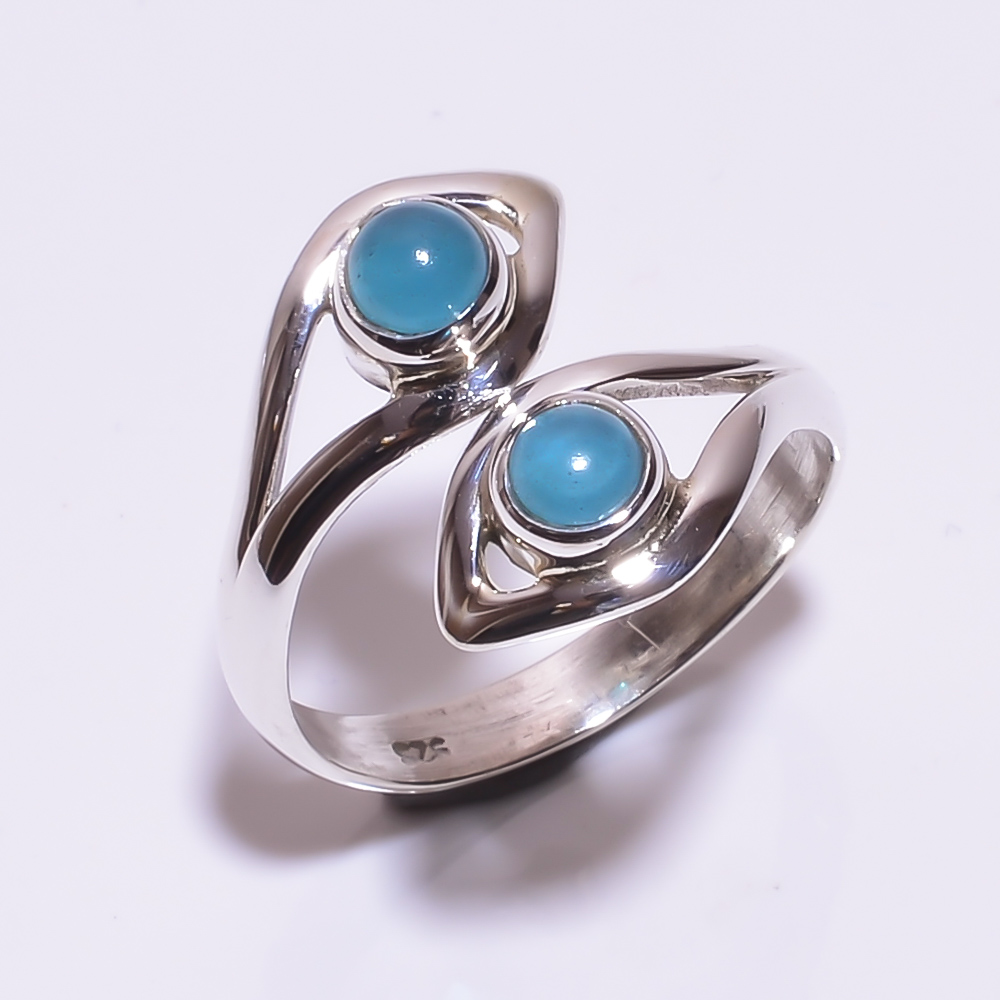 925 STERLING SILVER BLUE ONYX BEAUTIFUL RING