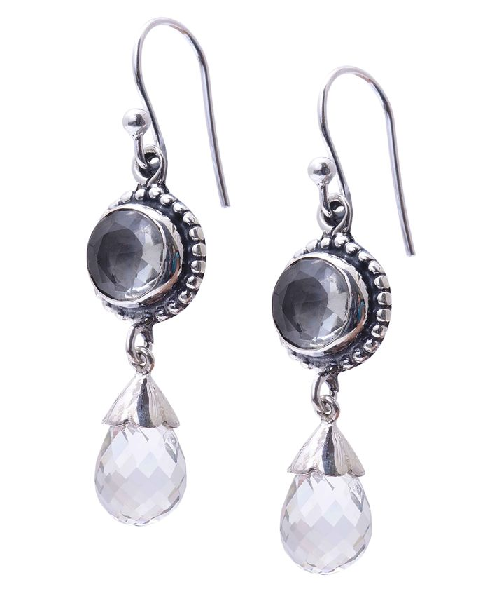 White Rainbow Moonstone Earring Weight 1.50 GM Free Shipping